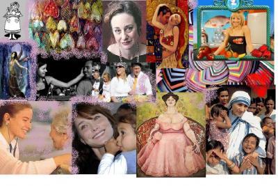 Collages sobre los nueve tipos del Eneagrama de la personalidad